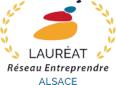 Logo Lauréat réseau Entreprendre Alsace