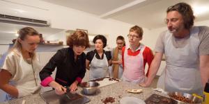Eductour d'un atelier chocolat
