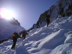 activité sportive : randonnée raquettes à neige