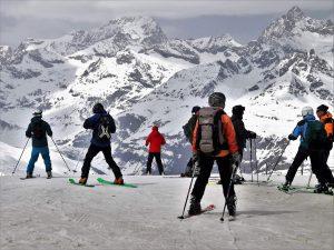 du ski pour fêter les fêtes de fin d'année