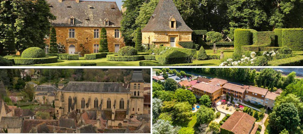 un week end dans le périgord, découvrez les jardins d'Eyrignac, l'auberge la petite reine et la ville de Sarlat-la-Canéda